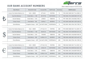 Bank Account Numbers