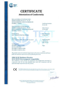 Certificate Attestation of Conformity